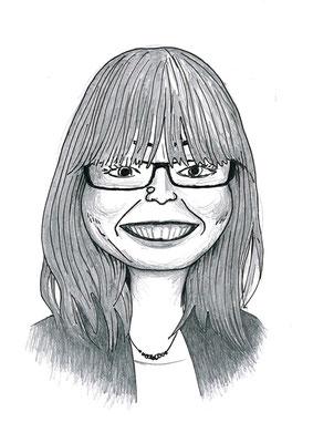 Karikatuur 7 - potlood / zwarte pen op papier 21 x 29.7 cm