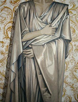 Studie 2. Acryl op paneel. 81.5 x 61 cm
