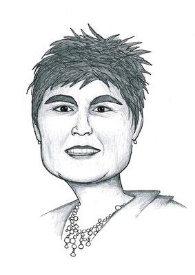 Karikatuur 8 - potlood / zwarte pen op papier 21 x 29.7 cm