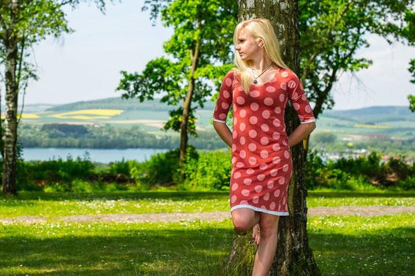Bio-Kleid Marsala-Dots#lillestoff