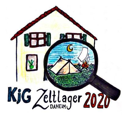Zeltlager 2020 @home Box - Unser wunderschönes Logo, designed von Franzi Riedl