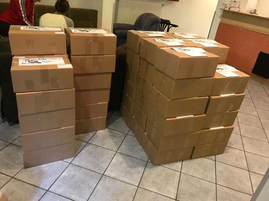 Zeltlager 2020 @home Box - Alle Boxen sind gepackt und werden quer durch Bayern geschickt