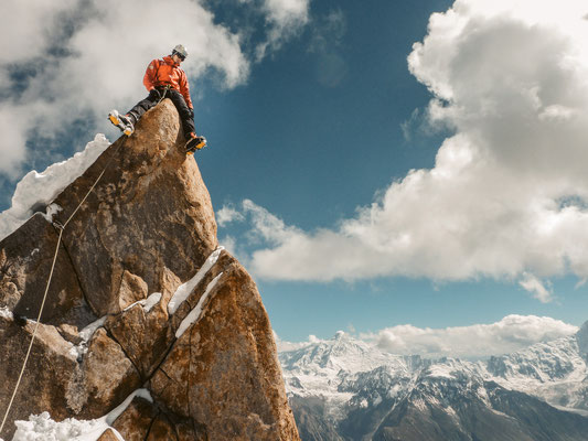Am Gipfel des Ladyfinger Peaks © Flo Jehle
