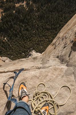Tiefblick in der Nose, El Capitan, Yosemite Valley © Fritz Miller