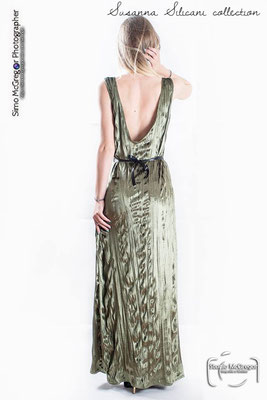 Green gown back