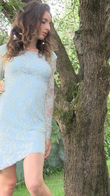 Susanna Silicani light blue lace dress
