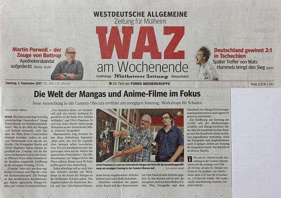Westdeutsche Zeitung Pressebericht Martin und Ulrich Paashaus Fotografie