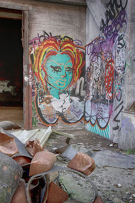 Lost Places Graffiti bei Muskator