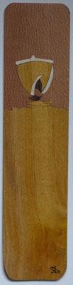 Voilier - Marque page en marqueterie - atelier Eclats de bois - Isère
