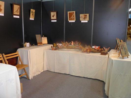 Stand de l'atelier de marqueterie Eclats de Bois : Novembre 2016  - Salon De L'Artisanat de Valence - vue d'ensemble
