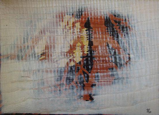 Marqueterie - exposition Biviers 2014 - Reflets de soleil dans la brume