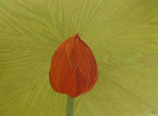 Atelier Eclats de bois - Marqueterie - Fleur de Lotus - Exposition Biviers 2021 Minéral et Végétal