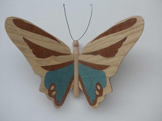Papillon - papillon en marqueterie - atelier Eclats de bois - Isère