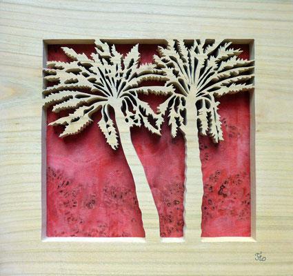 Les 2 palmiers -Chantournage - atelier Eclats de bois - Isère