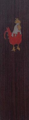 Marque page coq - marqueterie - Atelier Eclats de Bois - 38 isère