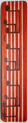 Notes de musique - Marque page en marqueterie - atelier Eclats de bois - Isère