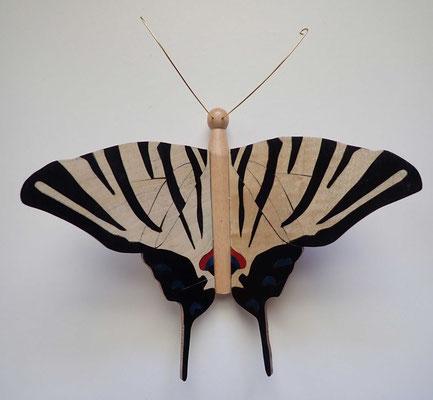 Flambé - papillon en marqueterie - atelier Eclats de bois - Isère