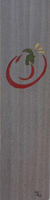 Coq stylisé - Marque page en marqueterie - atelier Eclats de bois - Isère
