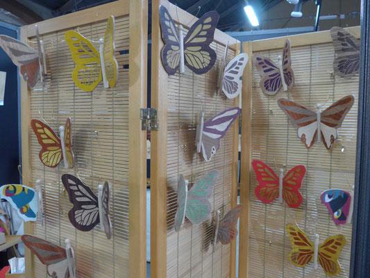 Salon de l'artisanat Valence - Atelier Éclats de bois - marqueterie d'art - Papillons