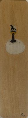 Marque page éclosion - marqueterie - Atelier Eclats de Bois - 38 isère