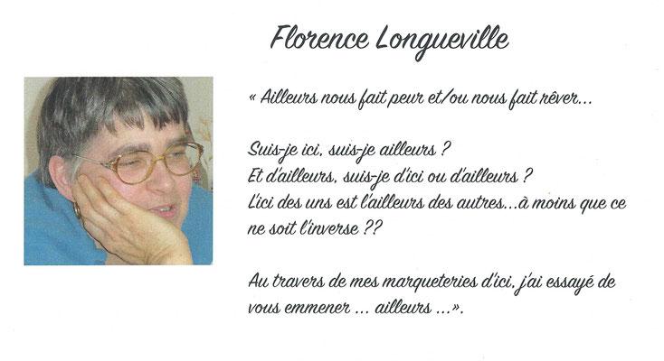 """Florence Longueville - exposition des artistes - thème """"Ailleurs """" - Biviers 2016"""