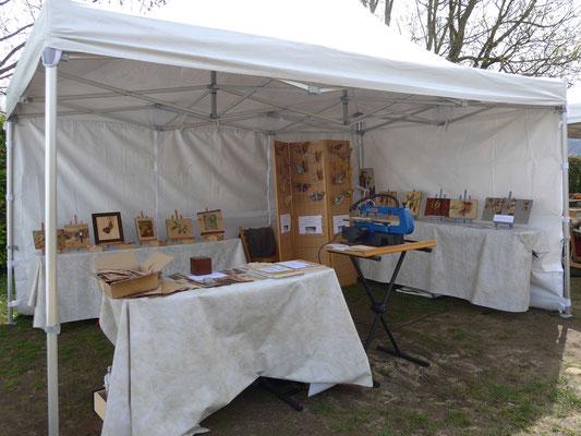 JEMA 2018 La Motte de Galaure - Atelier Éclats de bois - marqueterie d'art - Le stand Éclats de Bois