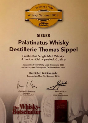 "Sieger in der Kategorie ""Whisky National 2018"""