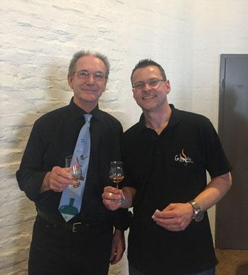 Robin und Uwe auf der Just Whisky