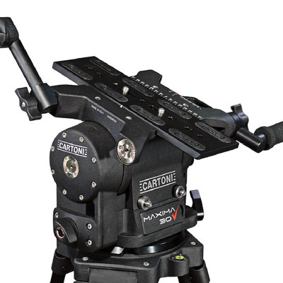 Puhlmann Cine - Cartoni Maxima 30 Fluid Heads Flat base