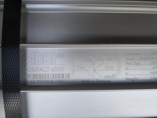 Puhlmann Cine - ARRI Daylight Compact 6000