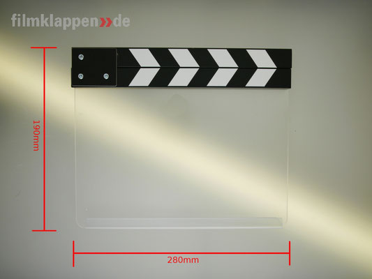 "Puhlmann Cine -Camera Slate b/w ""Clear"""