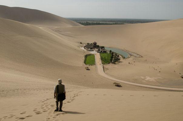 敦煌にての一枚。旅行記の表紙にもなった写真です。