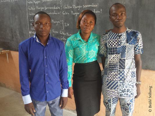 Praktikanten 2016-2017 an Pergame Plus, Bénin (Westafrika)