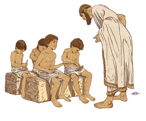 Benjamin von Eckartsberg - Illustration  für Austellung über Schule - Sumer - Kunde: Bayerisches Nationalmuseum