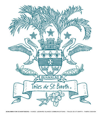 Benjamin von Eckartsberg - Illustration: Stoffdesign Toiles de St. Barth - Kunde - Leeward Islands Communications