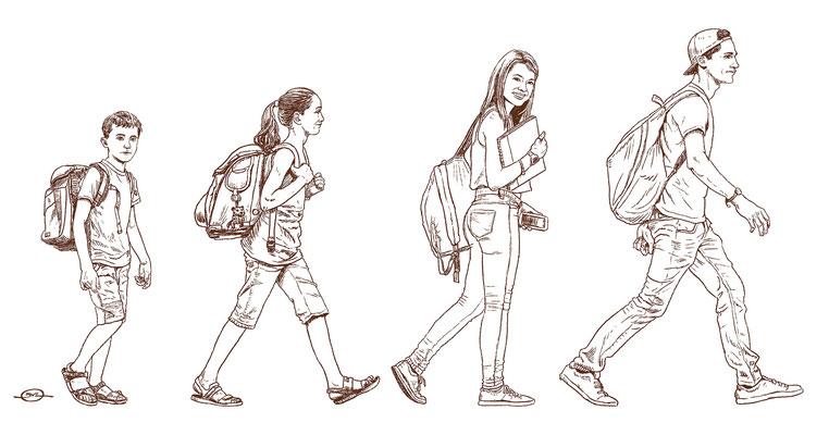 Benjamin von Eckartsberg - Illustration  für Austellung über Schule - Schüler heute - Kunde: Bayerisches Nationalmuseum
