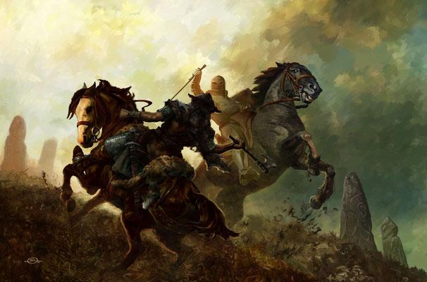 Benjamin von Eckartsberg - Illustration Buchcover: Wolfgang Hohlbein-Die Legende von Camelot 2-Elbenschwert, Weltbild Verlag