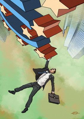 Benjamin von Eckartsberg - Illustration für Online-Wirtschafts-Artikel - Kunde: Allianz