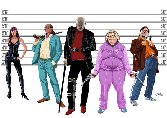 Benjamin von Eckartsberg - Character Design - Jerry Cotton - Kunde: Ratpack