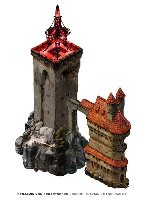 Benjamin von Eckartsberg - Concept Art - Magic Castle - Kunde: Travian Games