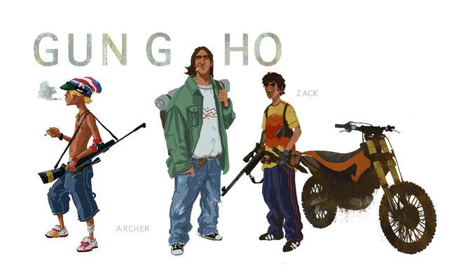 Benjamin von Eckartsberg - Character Design - Gung Ho - Kunde: Éditions Paquet