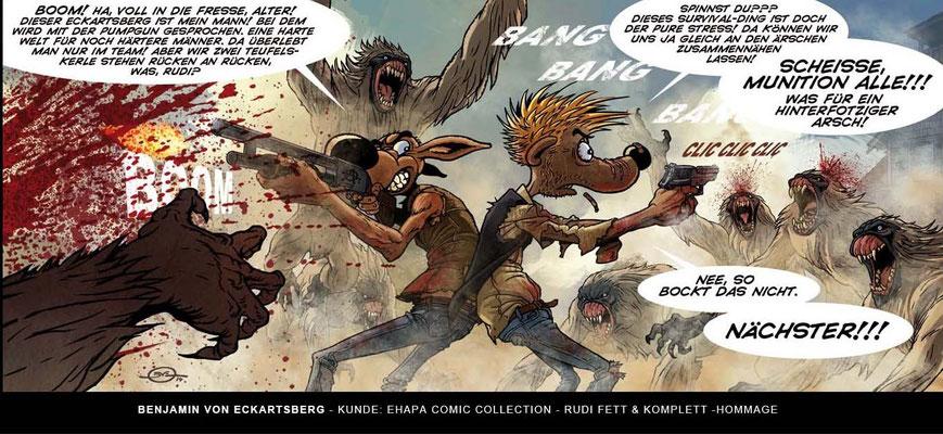 Benjamin von Eckartsberg - Comic Illustration: Rudi - Fett & Komplett - Kunde: Egmont Comic Collection