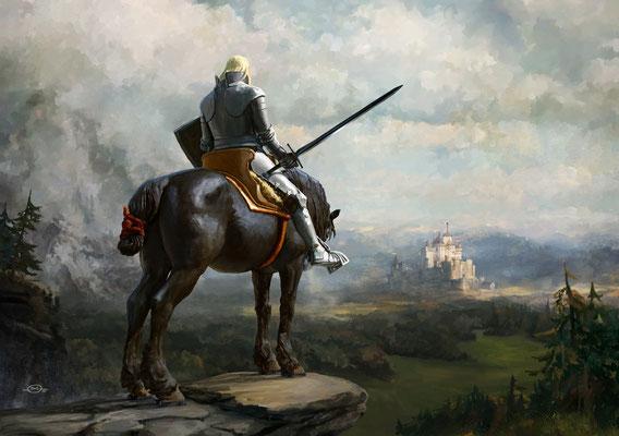 Benjamin von Eckartsberg - Illustration Buchcover: Wolfgang Hohlbein-Die Legende von Camelot 1, Weltbild Verlag