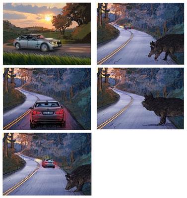 Benjamin von Eckartsberg - Storyboard - Kunde: BMW - Agentur: Interone