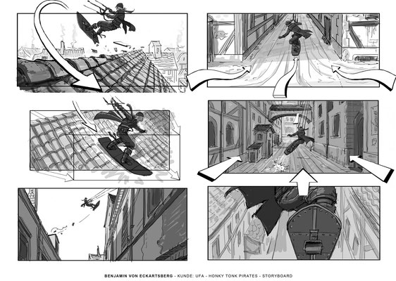 Benjamin von Eckartsberg - Storyboard- Honkytonk Pirates - Kunde: UFA Cinema