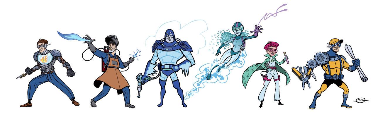 Benjamin von Eckartsberg - Character Design Linde Superheroes - Kunde: Linde