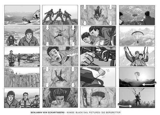 Benjamin von Eckartsberg - Storyboard- Die Bergretter- Kunde: Black Sail Pictures.VFX
