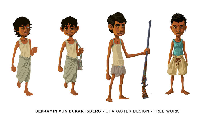 Benjamin von Eckartsberg - Character Design - Maneater - Freie Arbeit