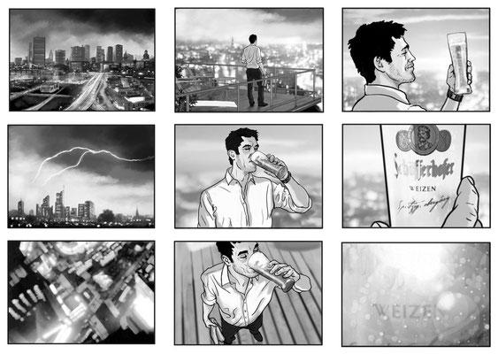 Benjamin von Eckartsberg - Storyboard - Kunde: Schöfferhofer- Agentur: BöningHaubeSinemus