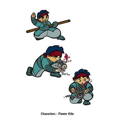 Benjamin von Eckartsberg - Character Design - Flower Kite - Kunde: Gallo Design